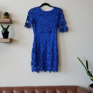 Blue thick lace dress size small